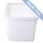 4Ltr Tamper Evident Natural Square Container